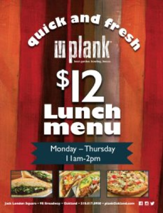 $12 Lunch Menu